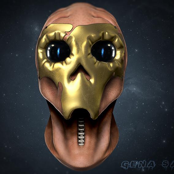 Alien Warrior Head