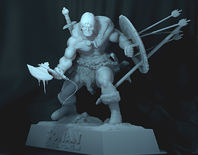 sculptures 3D print model CONAN The Barbarian
