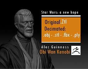 3D print model Alec Guinness - Obi Wan Kenobi - Star Wars