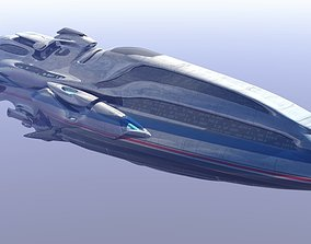 3D Trans Gallactic Starcruiser