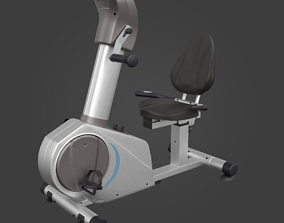 Stationary bicycle-Exercise Equipment-05 3D model