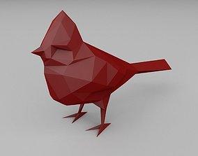 3D print model figurine low poly bird