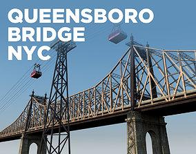 Queensboro Bridge 3D model queens