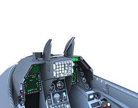 3D asset F-16C Cockpit