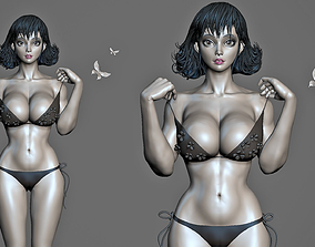 3D model Asian Female body Mesh ZBrush