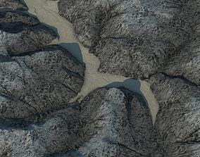 Terrain landscape exterior 3D model