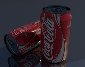 3D asset low-poly Coke Can