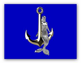 3D print model Mermaid anchor accessory