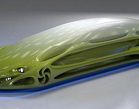 3D Futuristic Car HD 10