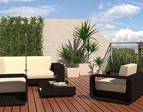 modern terrace 3D model