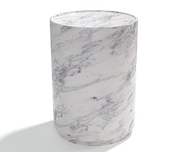 3D Amara Side Table Carrara Marble
