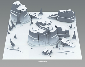 Cartoon Cliffs 3D asset