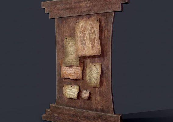 Medieval notice board