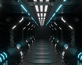 scifi alien room 3D