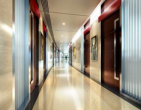 3D model Modern simple corridor