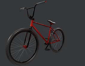 3D asset LowPoly Bicycle BPR