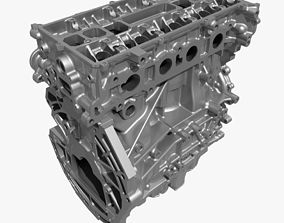 4 Cylinder Engine Block 02 3D model