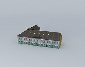 Old Corner Commercial House 3D asset