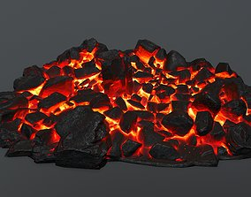 3D model realtime lava rocks