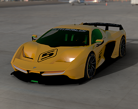 PININFARINA FITTIPALDI EF7 2017 3D model animated