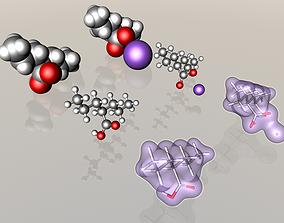 3D model Valproic acid and sodium valproate molecules