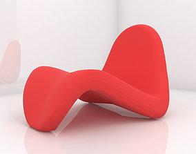 3D model Tongue chair