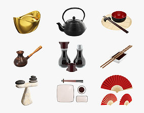 3D model Chinese style objects