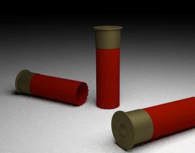 3D model low-poly Shotgun Shells
