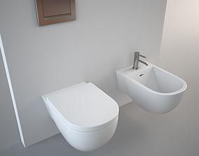 3D model Antonio Lupi Sella Bidet and Toilet