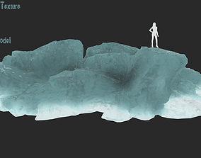iceberg 3D model VR / AR ready rock