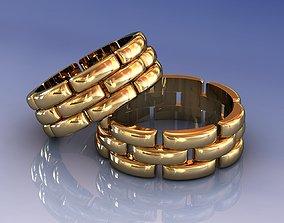 Man Chains Link Wedding Band Ring 3D print model
