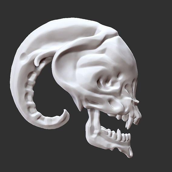 Alien Skull Head
