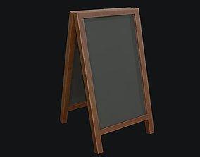 3D model Chalkboard PBR Game Ready