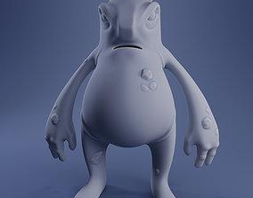fantasy Hugo The Monster - 3D Print Model