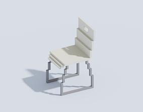 Voxel Chair T1 3D asset