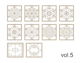 Kumiko Collection vol-5 3D model