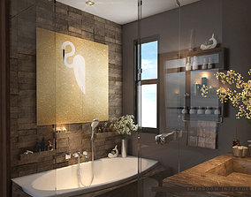 3D model Bathroom Wc Modern Luxurious elegant cozy 2