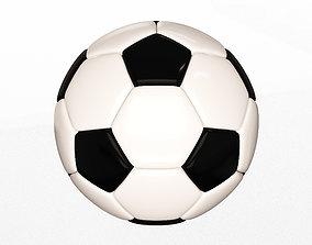 Soccer Ball Black White 3D asset