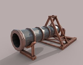 3D model Low poly Stylized Huge Cannon