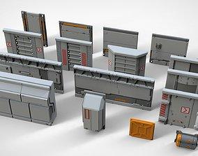 sci-fi Architecture kitbash 25 3D