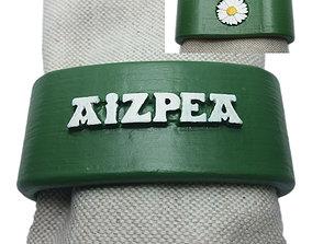 AIZPEA 3D Napkin Ring with daisy napkin
