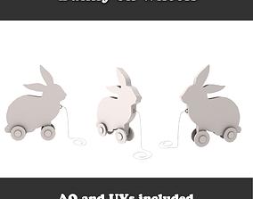 Bunny on wheels 3D model