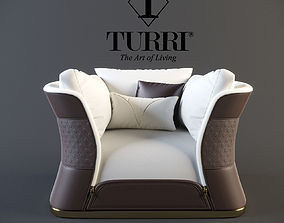 3D model Turri vogue armchair