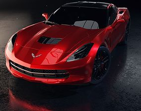 Chevrolet Corvette Stingray Car 3D Model