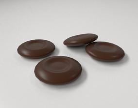 Milk Chocolate Coin 3D