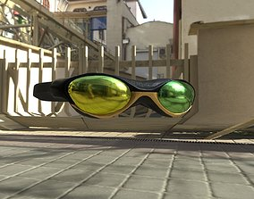 Deluxe Swimming Goggles 3D model