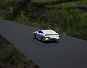 3D model Low Poly Car With Materials