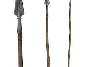 Spear 3D asset low-poly