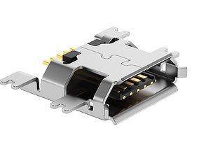 3D model USB Micro B Female Module