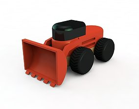3D print model bulldozer front loader